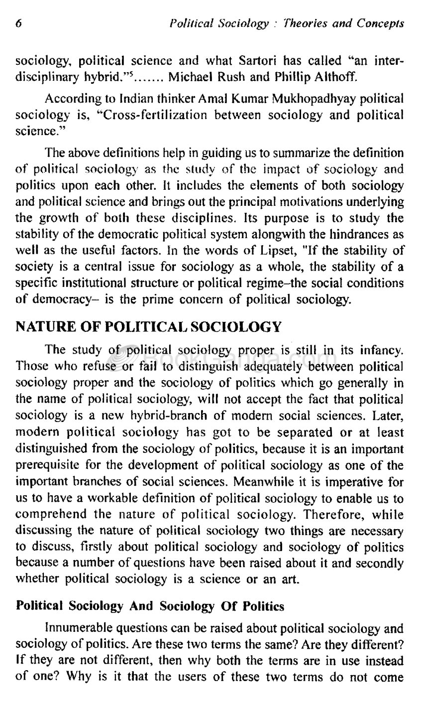 nature of political sociology