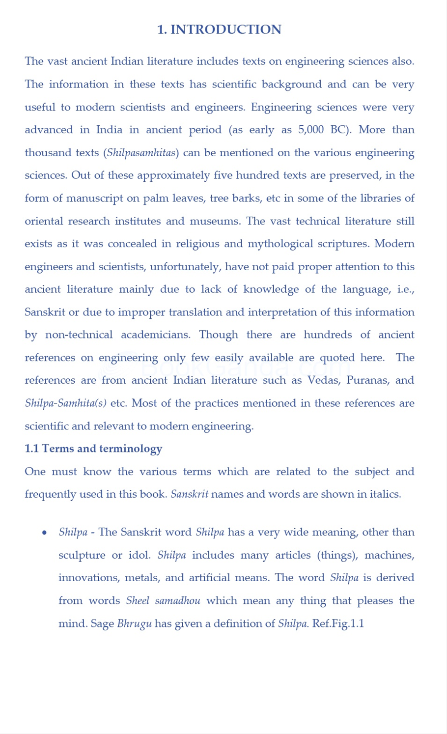 Ancient Indian Water Resources Engineering - Ancient indian literature