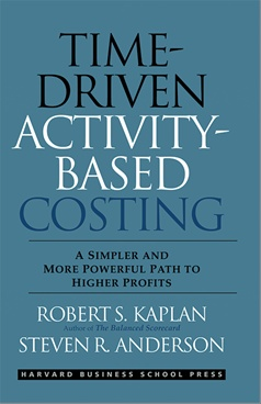 Time driven activity based costing