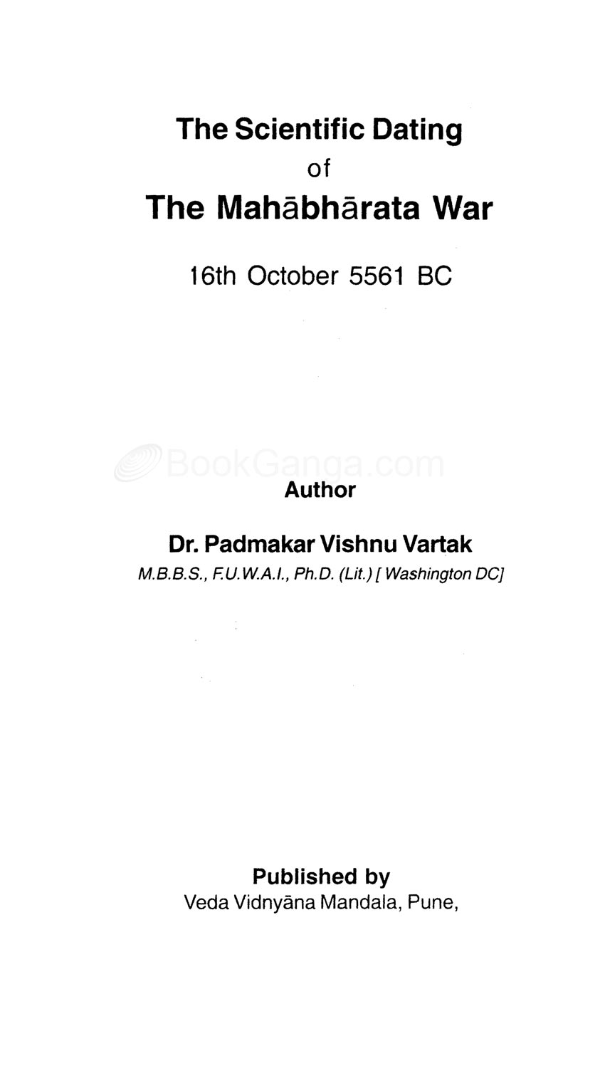 scientific dating of mahabharata