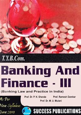 Banking and Finance - III