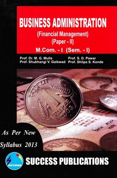 Business Administration (Financial Management) (Paper -II)