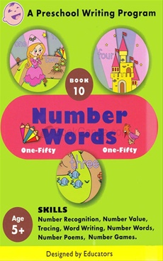 Number Words One - Fifty Book