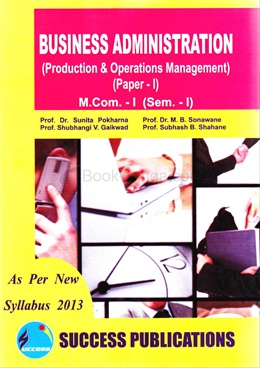 Business Administration Paper I, M.Com. - I, (Sem. - I)