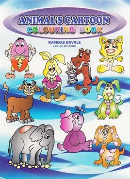 Animal's Cartoon Colouring Book