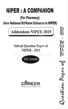 NIPER : Addendum 2015