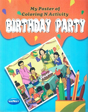 My Poster Of Coloring And Activity- Birthday Party