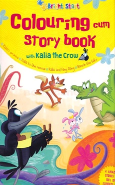 Colouring Cum Story Book With Kalia The Crow