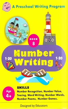 Number Writing Book 8