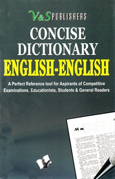 CONCISE DICTIONARY ENGLISH-ENGLISH.