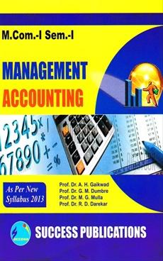 Management Accounting M.Com.-I Sem.-I